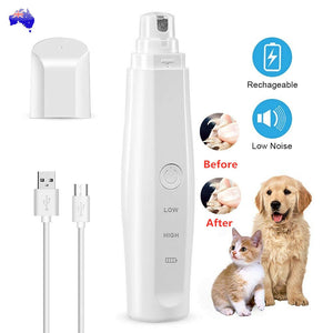 Pet Dog Cat Nail Claw Trimmer Grooming Grinder Rechargeable Nail File Care Tool