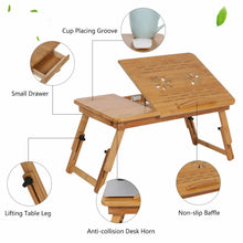 Load image into Gallery viewer, Laptop Foldable Table Stand TV Tray Upgrade Portable Adjustable Desk