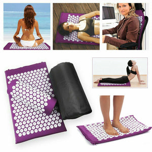 Massage Acupressure Yoga Shakti Sit Lying Mats Pain Stress Soreness Relax Mat