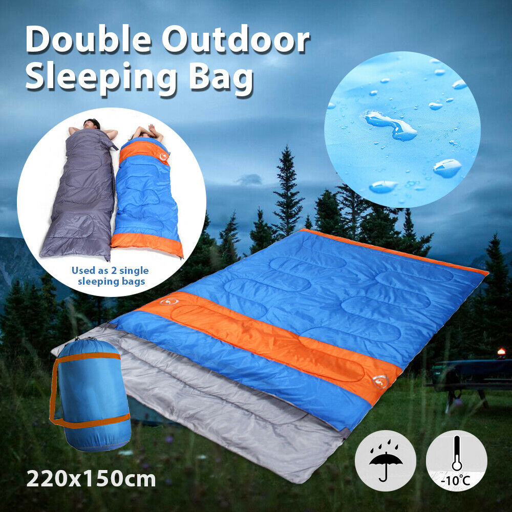 Double Outdoor Camping Sleeping Bag 220 x 150cm