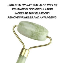 Load image into Gallery viewer, Facial Massage Roller Natural Quartz Crystal Stone Face Neck Beauty Tool