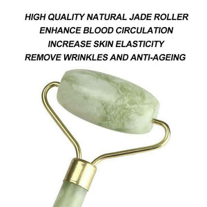 Facial Massage Roller Natural Quartz Crystal Stone Face Neck Beauty Tool