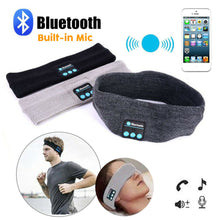 Load image into Gallery viewer, Dark Grey Wireless Bluetooth Stereo  Sports Headband w/Mic