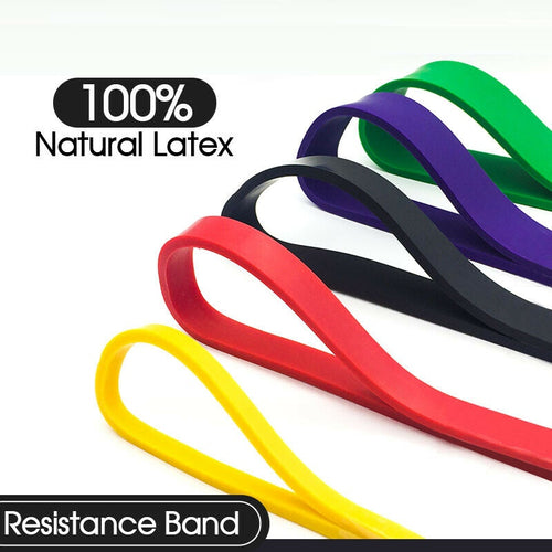 Set of 5 Heavy Duty Resistance Band Loop for Gym Fitness Exercise Yoga Workout