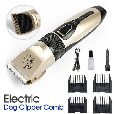 Cordless Dog Pet Electric Clipper Comb Grooming Set
