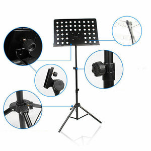 Adjustable Music Stage Stand Heavy Duty Metal Music Sheet Conductor Folding