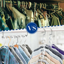Load image into Gallery viewer, 2 sets Space Saver Clothes Coat Pant Magic Hanger Metal Hooks Closet Organizer Storage