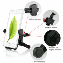 Load image into Gallery viewer, Universal 360° Car Windshield Holder Cradle GPS Mobile Smart Phone Mount 2 in 1