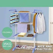 Load image into Gallery viewer, Foldable Clothes Airer Indoor Laundry Drying Rack Clothes Hanger