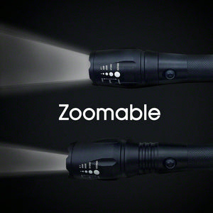 USB LED Tactical Zoomable Flashlight Torch Kit