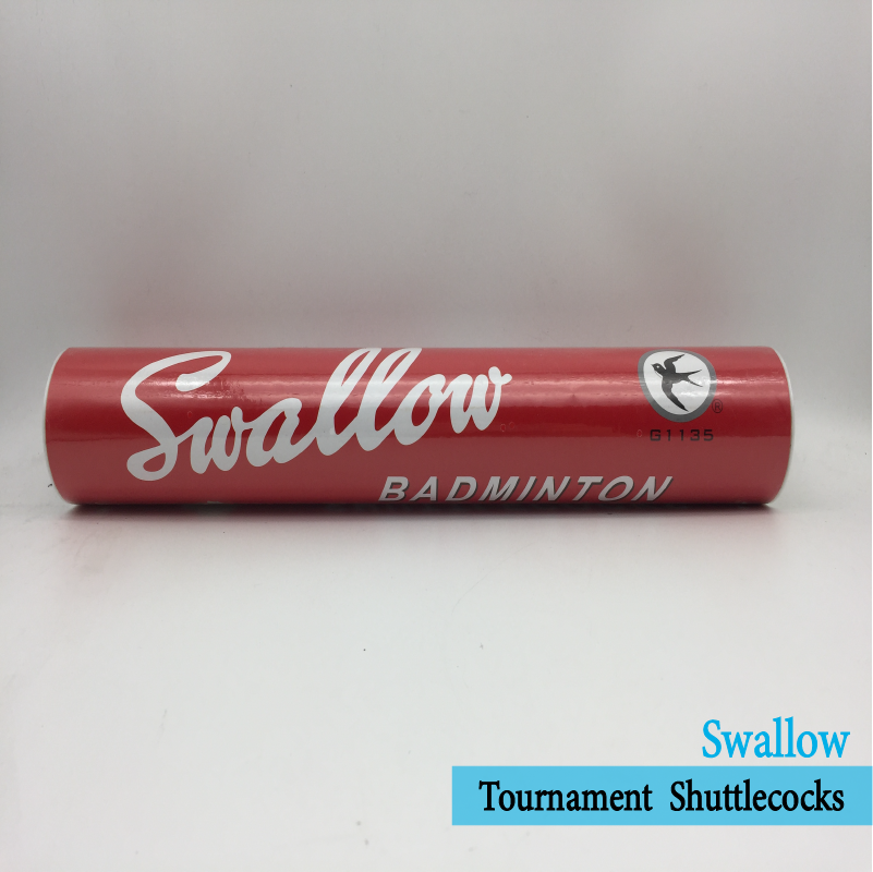 12x SWALLOW 羽毛球Badminton BALL Goose Feather Shuttlecocks Shuttles