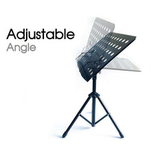 Load image into Gallery viewer, Adjustable Music Stage Stand Heavy Duty Metal Music Sheet Conductor Folding