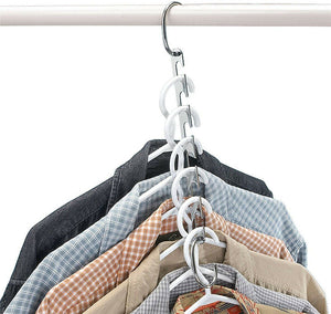 2 sets Space Saver Clothes Coat Pant Magic Hanger Metal Hooks Closet Organizer Storage