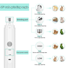 Load image into Gallery viewer, Pet Dog Cat Nail Claw Trimmer Grooming Grinder Rechargeable Nail File Care Tool