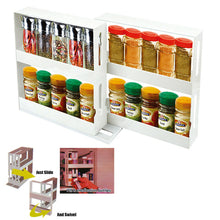 Load image into Gallery viewer, Swivel Cabinet Spice Rack Holder Organiser