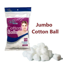 Load image into Gallery viewer, 100Pcs Jumbo Cotton Balls Wool Balls Face Make Up Nail Polish Remover Absorbent