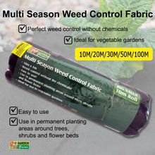 Load image into Gallery viewer, Weedmat Weed Control Mat Matting Woven Fabric Plant PE Garden Cover 10M