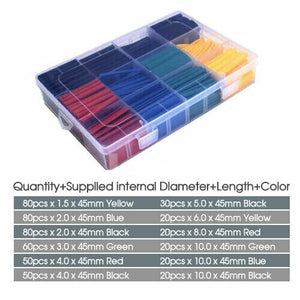 530Pcs Heat Shrink Tubing Tube Cable Insulation Sleeving Set