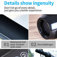 Load image into Gallery viewer, TG117 Bluetooth Wireless Speaker Waterproof