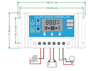 30A LCD Display PWN Solar Panel Regulator