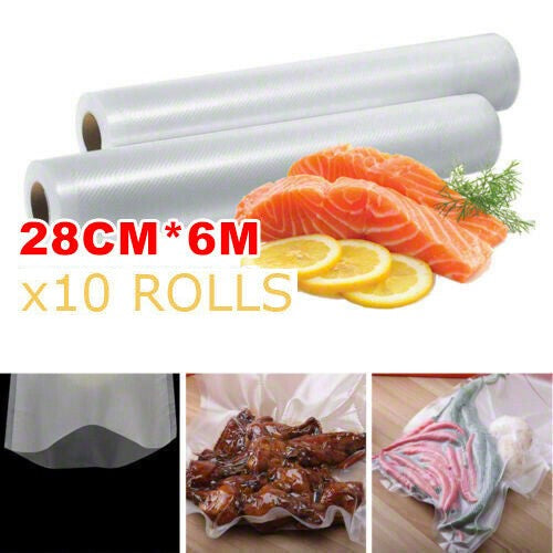 10x Vacuum Food Sealer Roll Bags Saver Seal Storage Heat Commercial