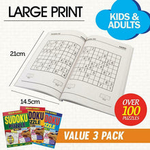 Load image into Gallery viewer, 3x Brain Games A5 Sudoku 144pg Activity Books