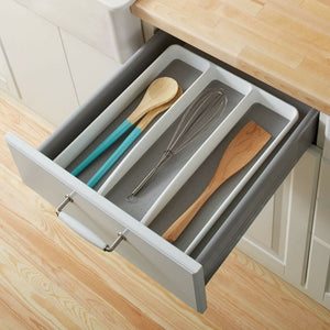 Kitchen Cutlery Tray Utensil Spoon Storage Organizer Drawer Insert Divide Holder
