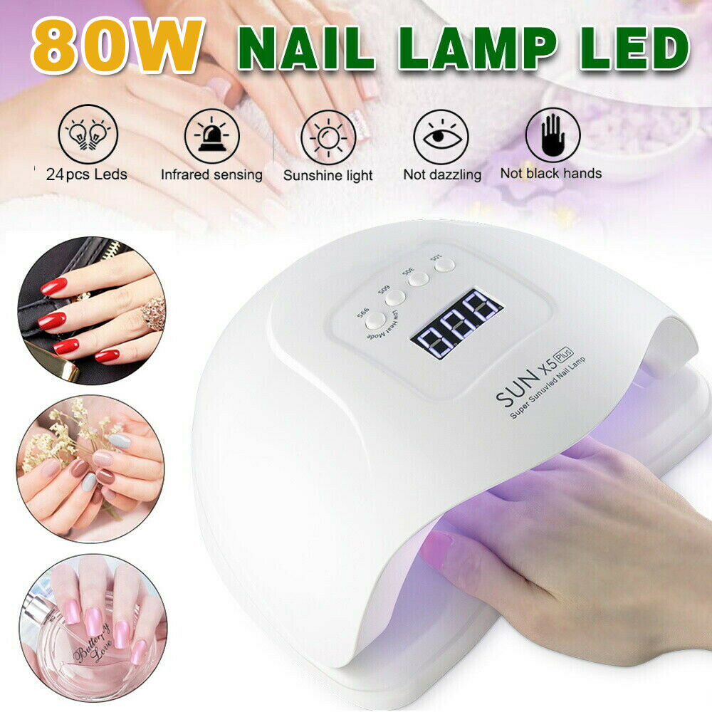 80W SUN FIVE UV Nail Lamp LED Light Gel Polish Dryer Curing Manicure Machine