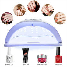 Load image into Gallery viewer, 80W SUN FIVE UV Nail Lamp LED Light Gel Polish Dryer Curing Manicure Machine