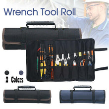Load image into Gallery viewer, 22 Pocket Tool Wrench Tool Roll Spanner Case Canvas Storage Bag Up Fold