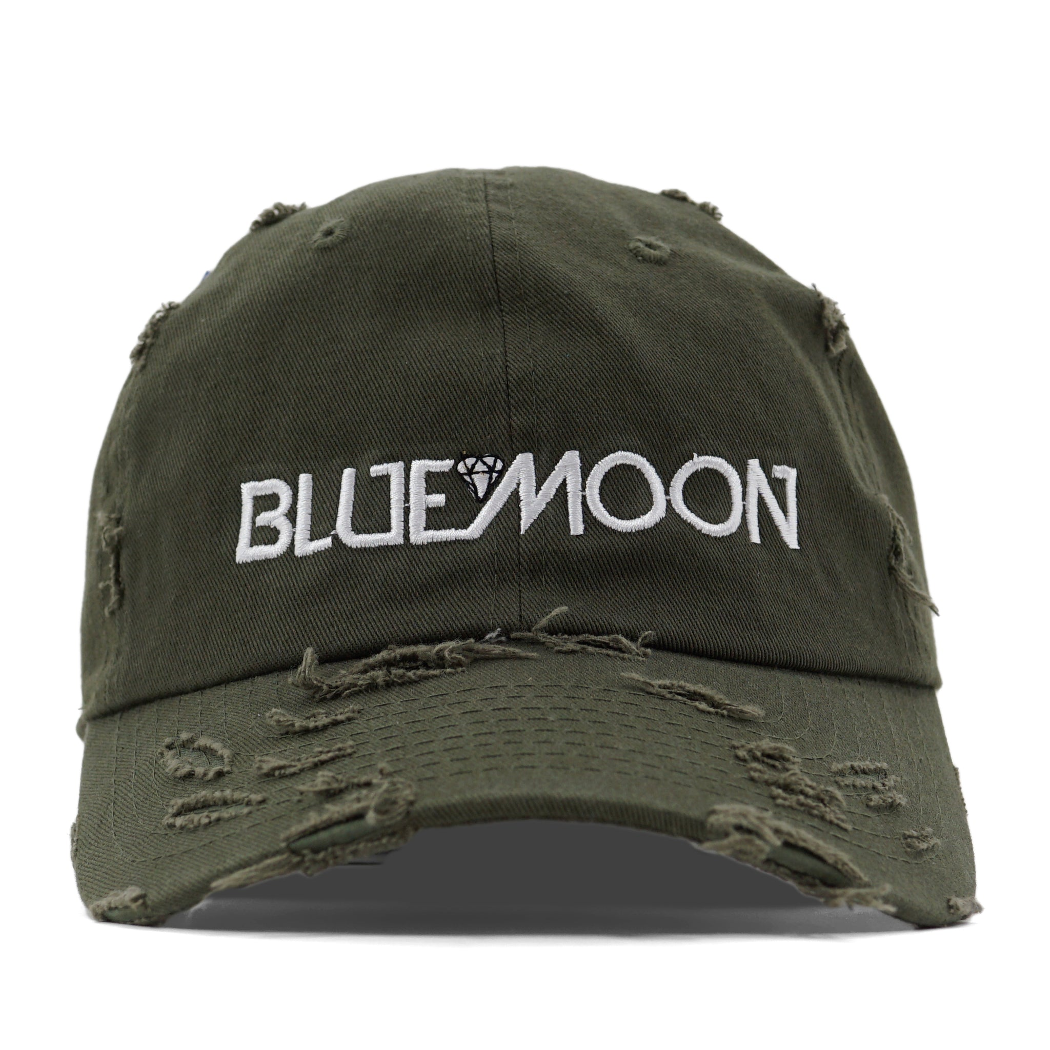 Blue Moon Olive Distressed DAD HAT