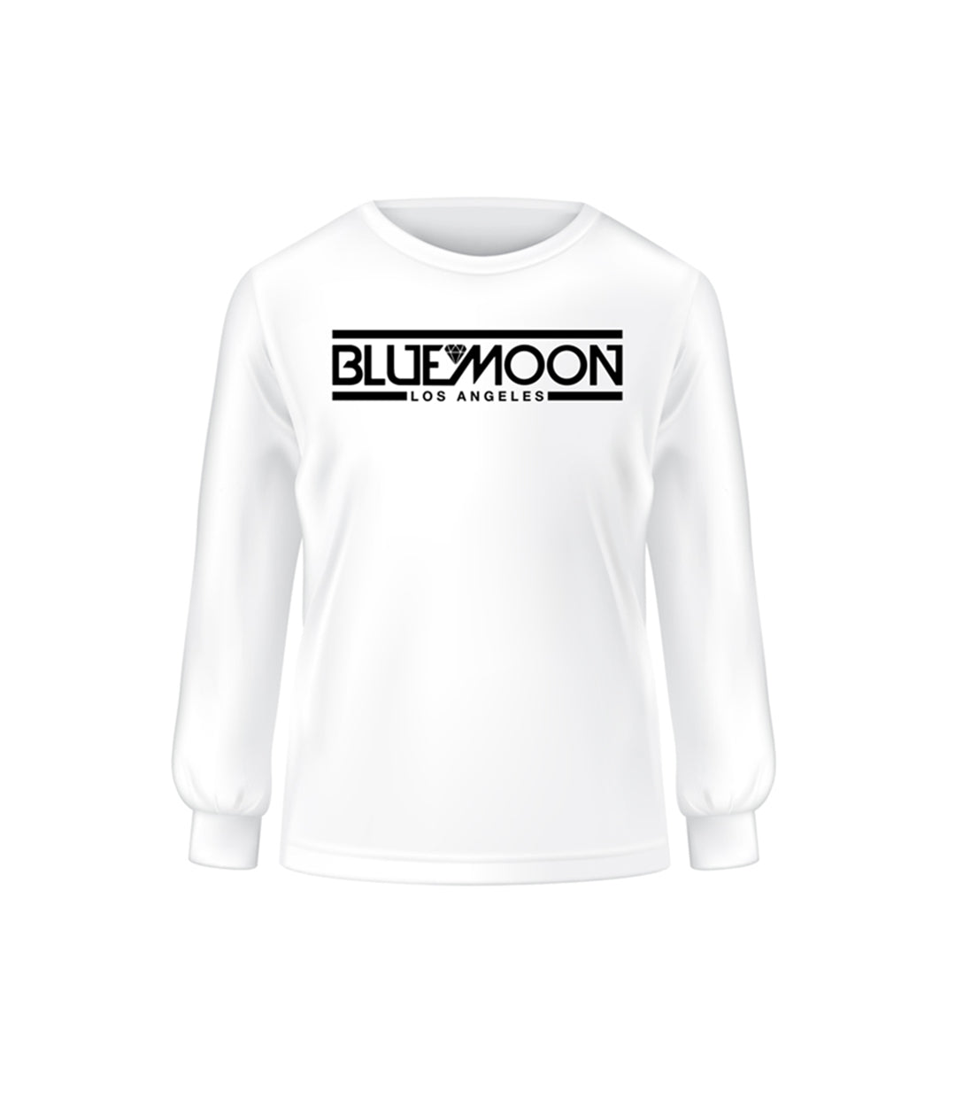 White Long Sleeve Tee BM Los Angeles by Blue Moon & Co, Exclusive, Lifestyle