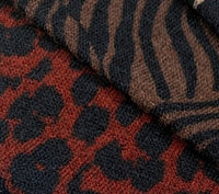 Printed Sweater Knits - Sophie - Leopard - Rust