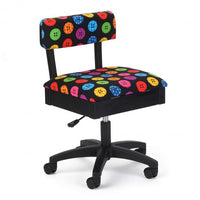 Janome Arrow Hydraulic Sewing Chair - Bright Buttons