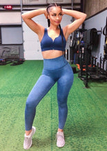 Load image into Gallery viewer, Blue Ionic Activewear Legging