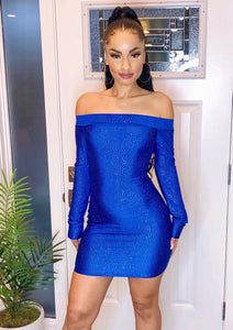 Blue Diamond Mini Dress