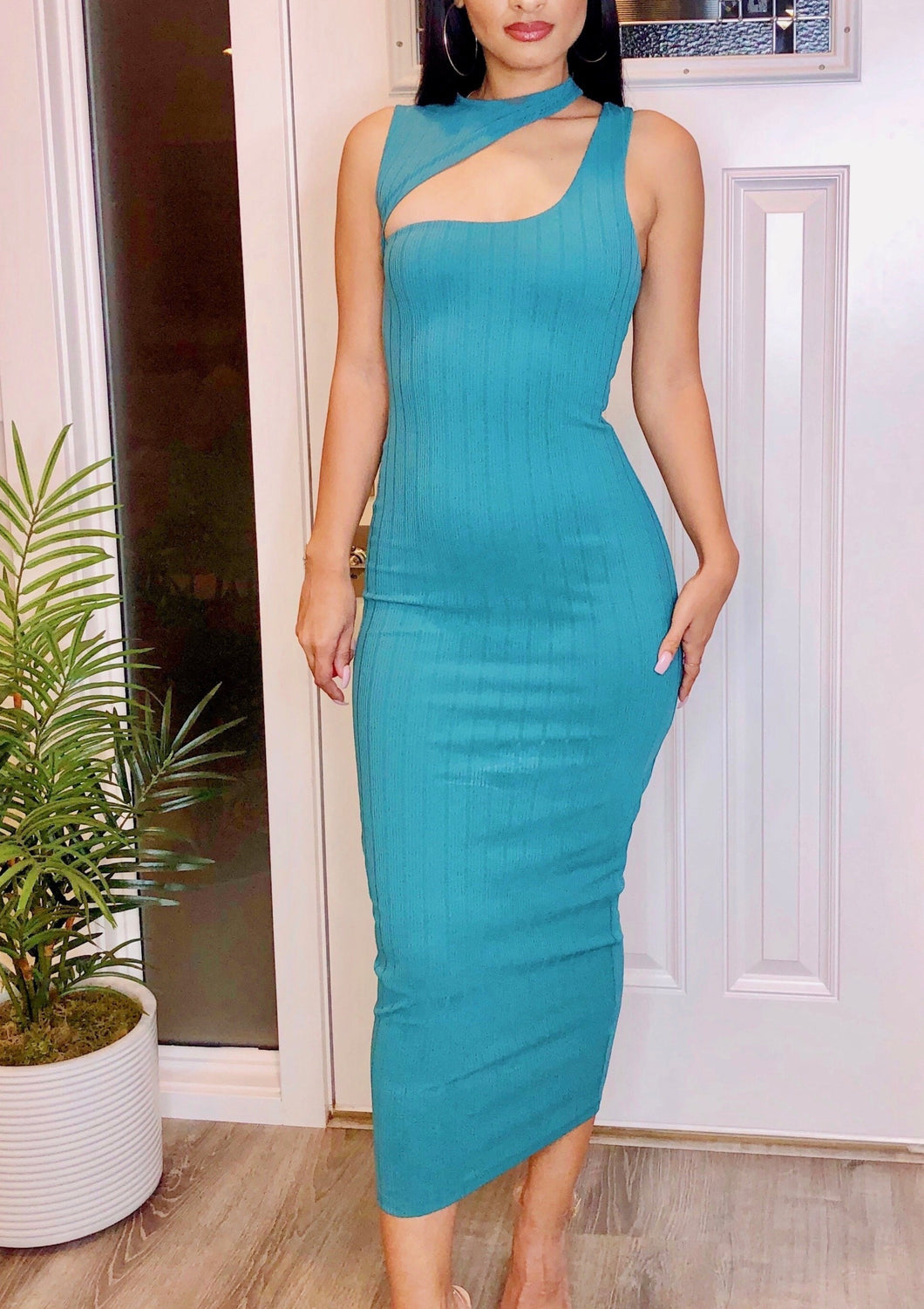 Classically Chic Bodycon Maxi Dress
