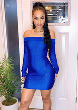 Load image into Gallery viewer, Blue Diamond Mini Dress