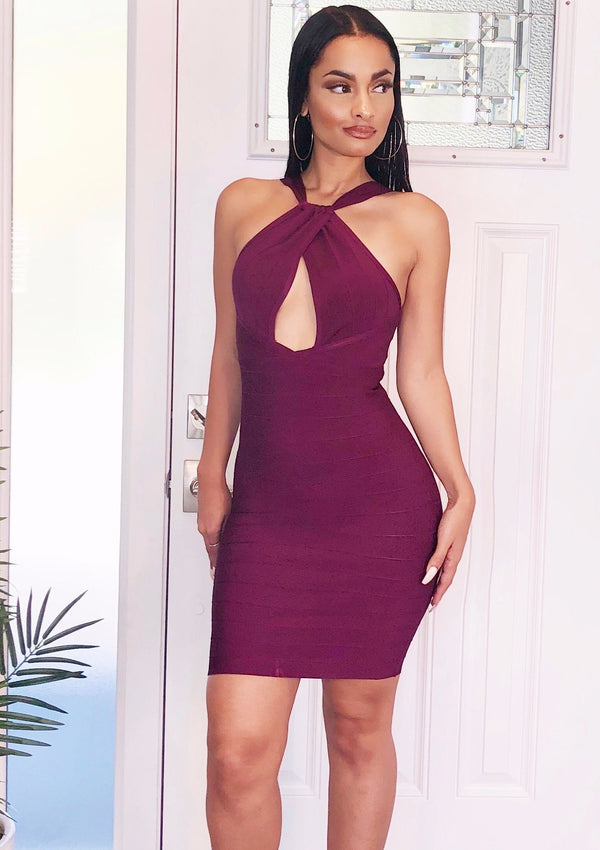 Purple Rain Bandage Dress