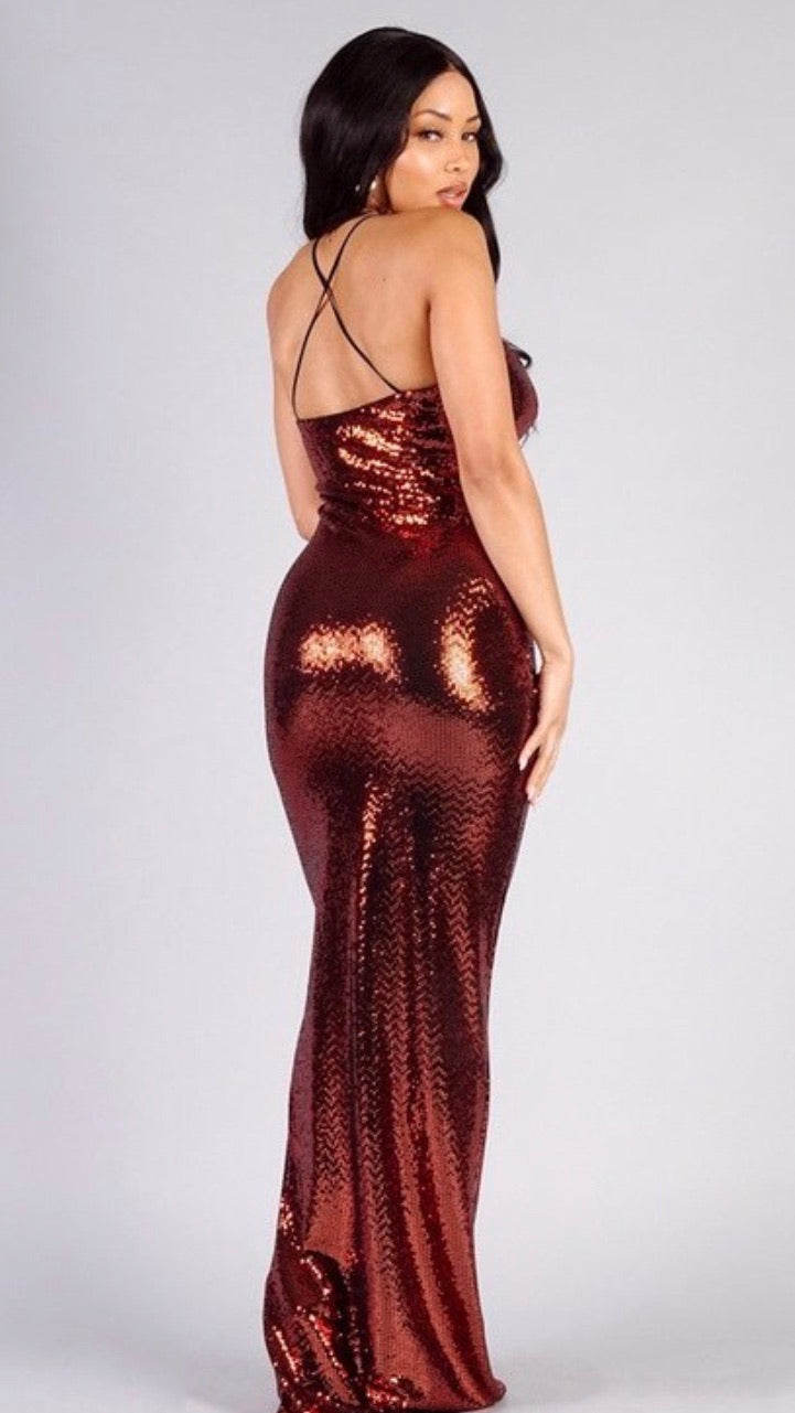 Bronze Goddess Gown