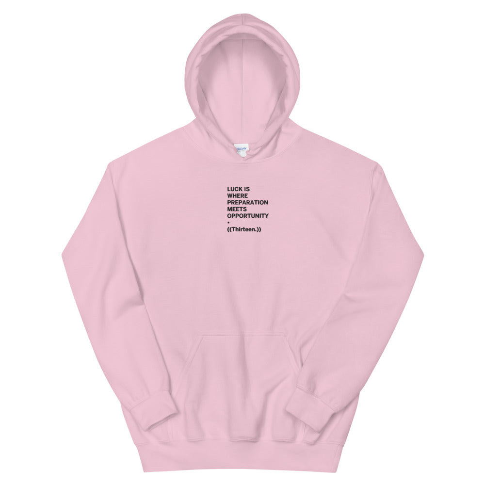 ((Thirteen.)) Embroidered Unisex Hoodie (White/Grey/Pink)