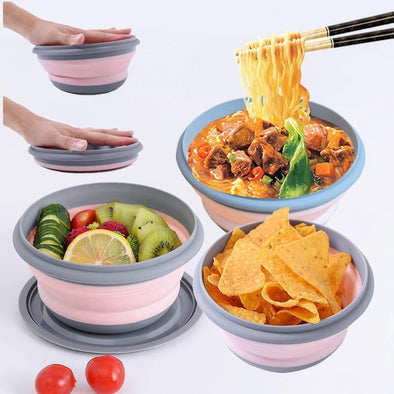 Silicone Folding Bowl With Lid