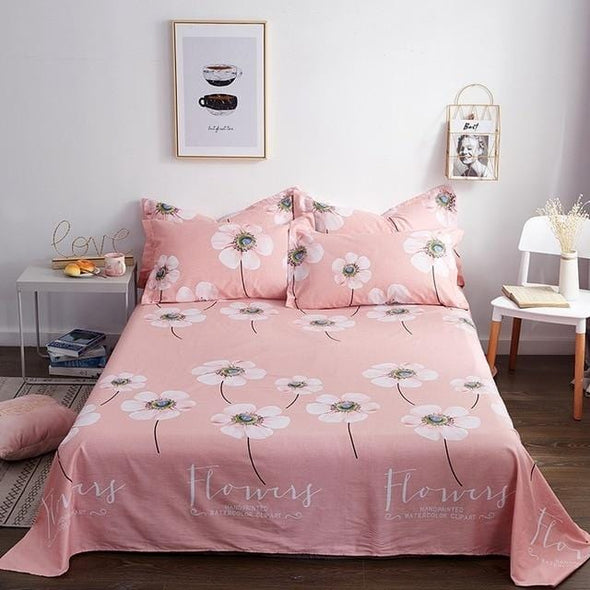Classic Floral Bed Flat Sheet