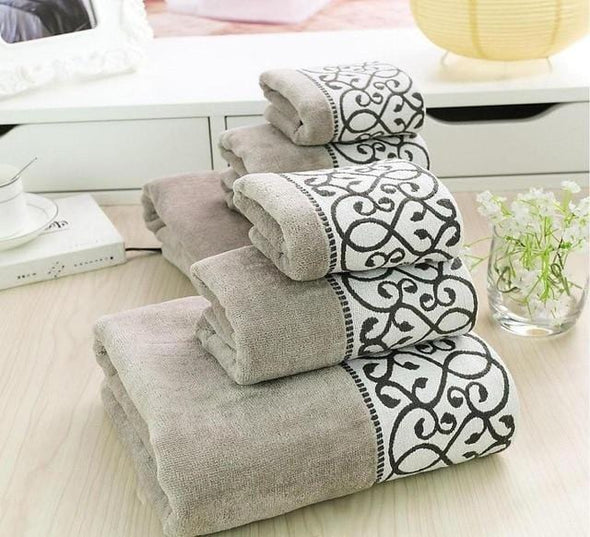 3pcs Luxury Cotton Towel Set