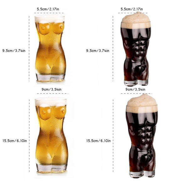 Lady & Men Body Shape Glass