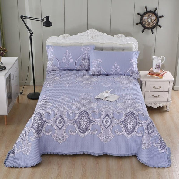 multi-color printed twin queen 3pcs bedspread pillowcase coverlet.jpg