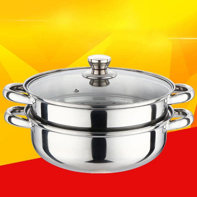 Multifunction Steamer Pot Stainless Steel Insulated 2 Tier
