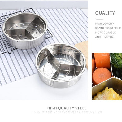 Newly Stainless Steel Pot Steamer Basket Egg Steamer and Rack Divider