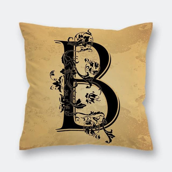 English Alphabet Cushion Cover