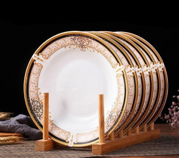6pcs Porcelain Ceramic Tableware Set